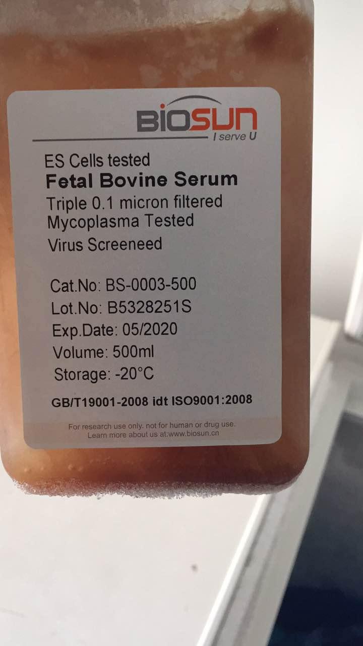 澳洲胎牛血清/ES tested FBS