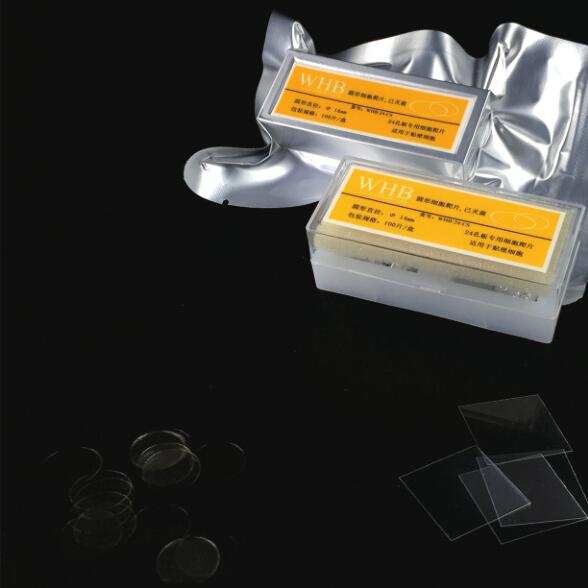 12孔板专用细胞爬片 WHB-12-CS 防脱盖玻片 100片/盒 已灭菌 WHB品牌