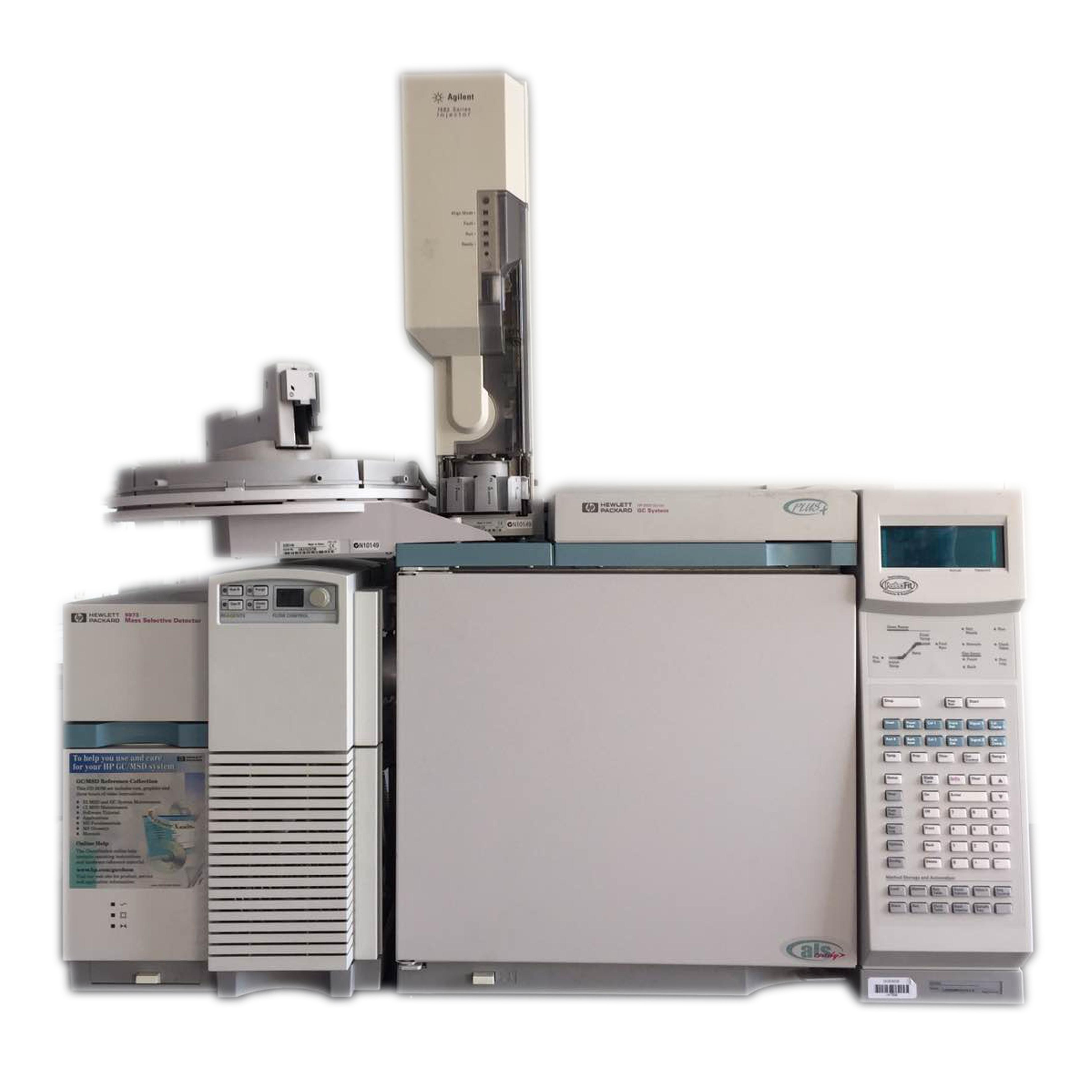 二手安捷伦6890N-5973N GCMS气相色谱质谱联用仪