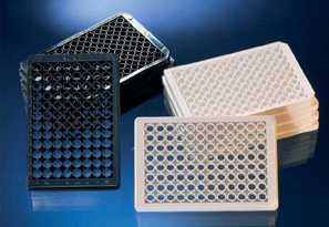 96孔底透微孔板,细胞培养,黑色,