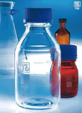 德国玻璃蓝盖瓶(试剂瓶,流动相瓶),硼硅酸玻璃,可高温灭菌