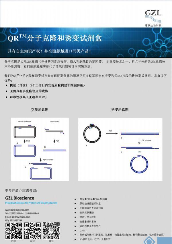QR 分子克隆和诱变试剂盒