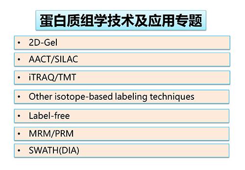 《主流蛋白质组学技术及其深度应用》专题课程